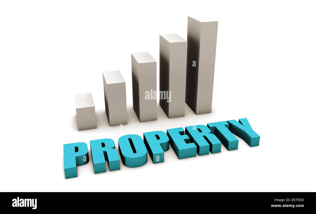 Blue Property - Stock Image