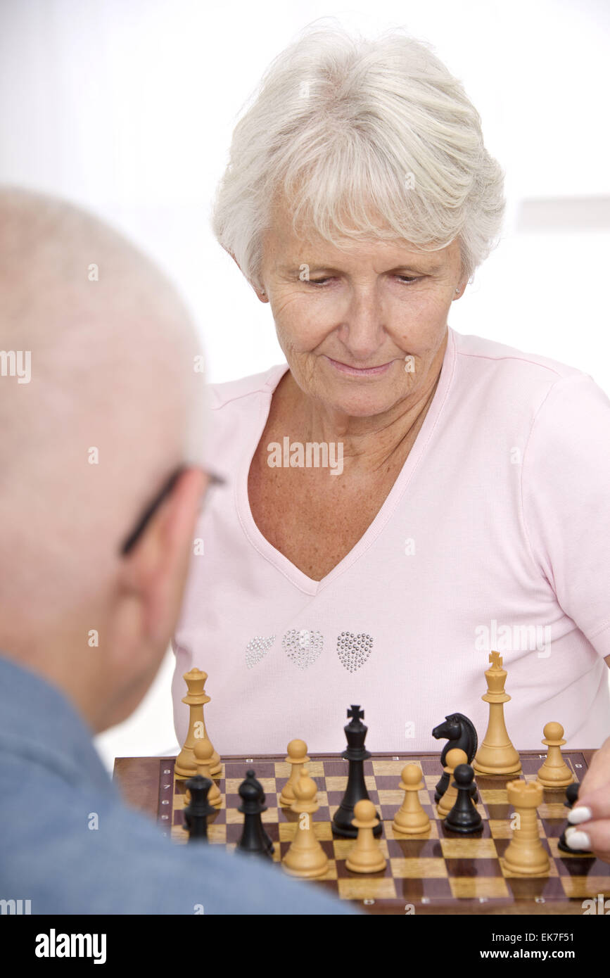 Interior game senior - Stock Image
