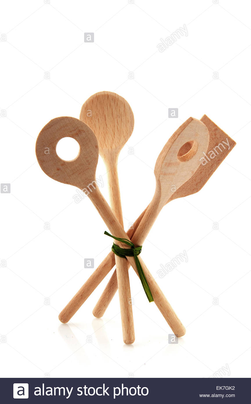 wooden spoons - Stock Image