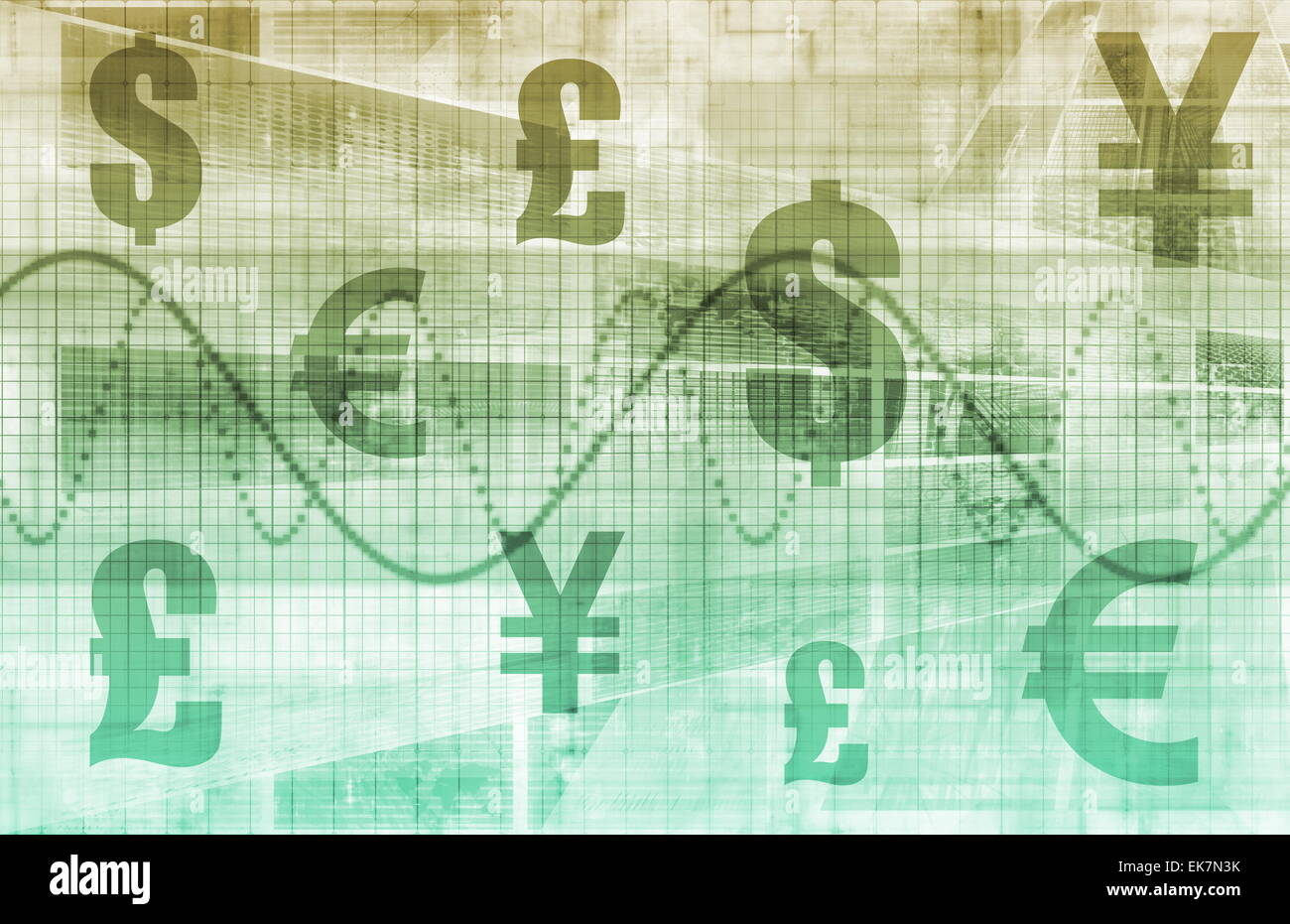 Currencies Collage - Stock Image