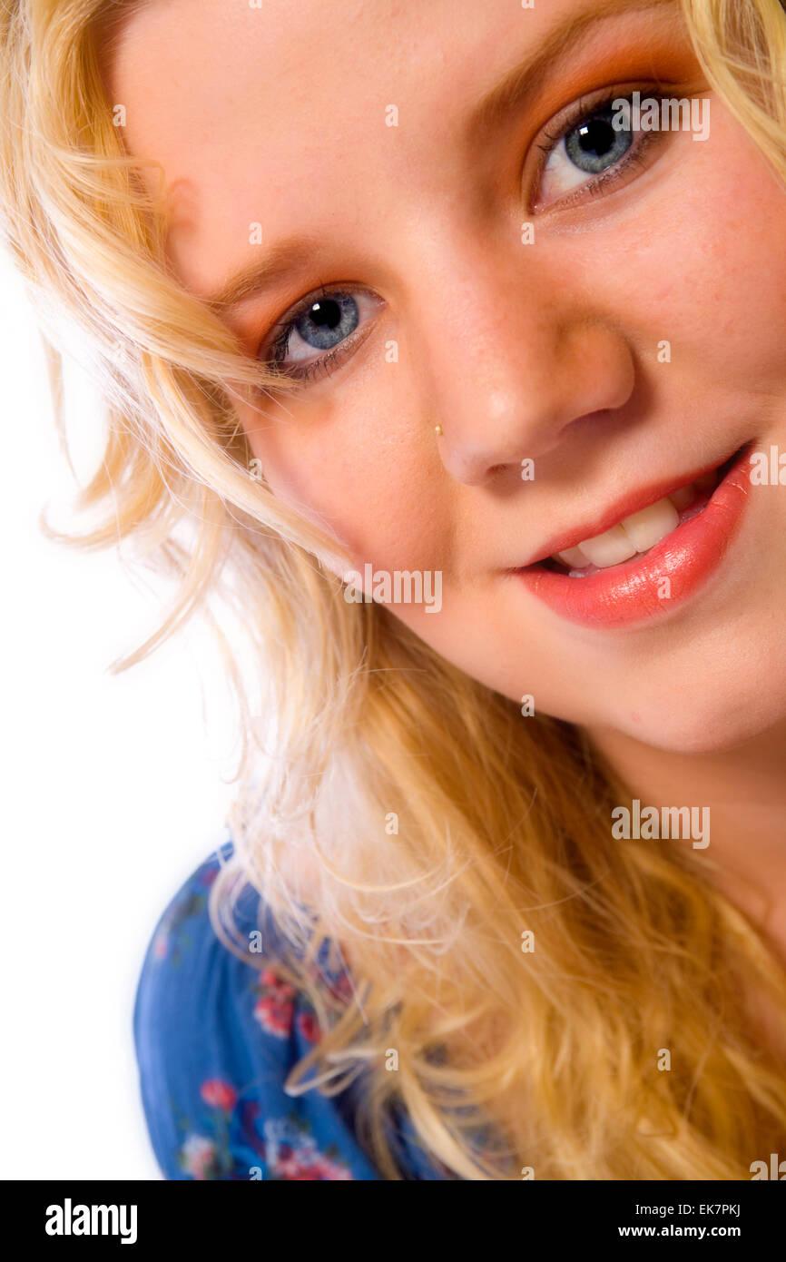 Average girl - Stock Image
