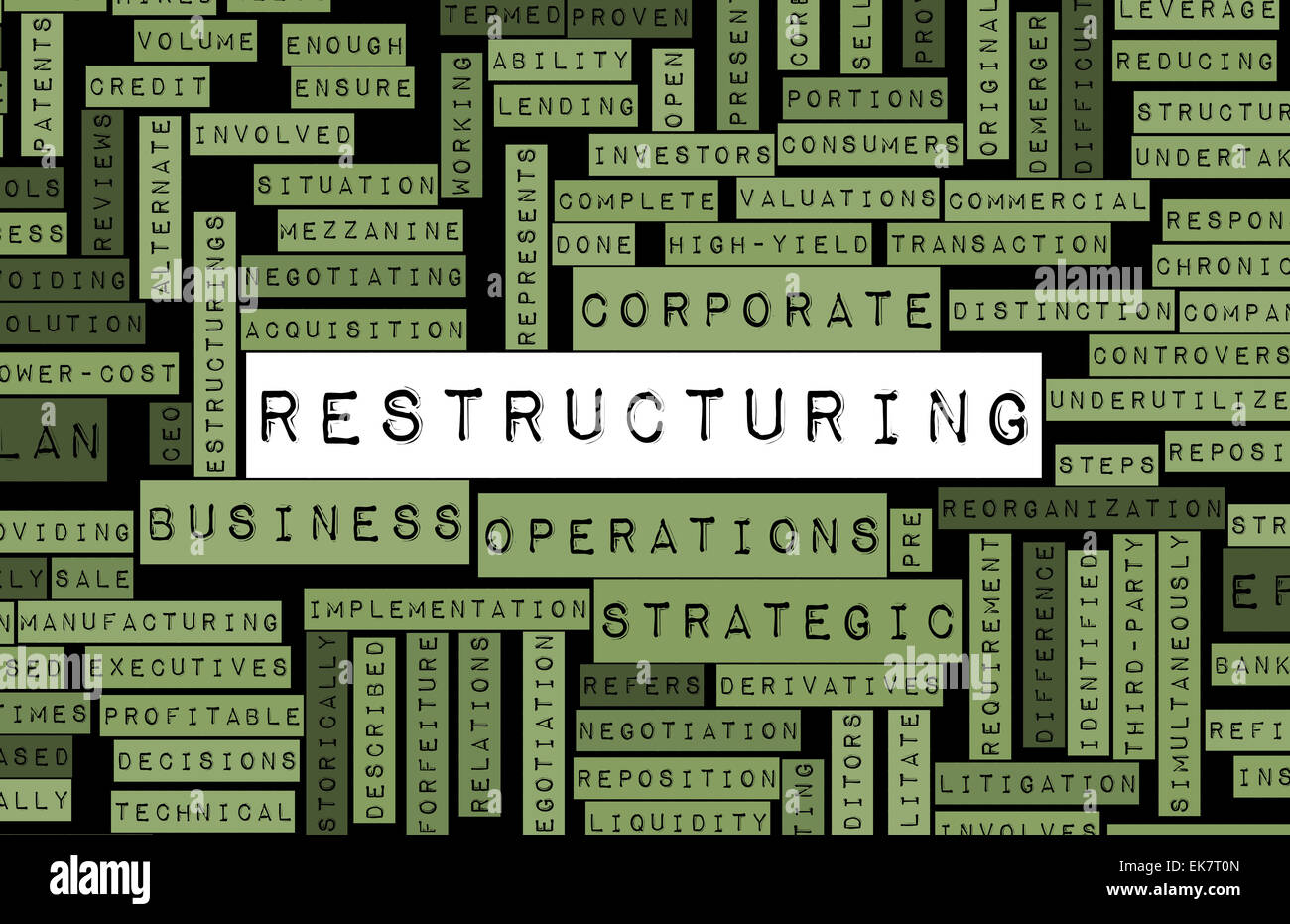 Restructuring Stock Photo
