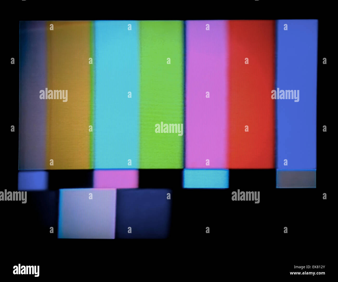 tv test signal - Stock Image