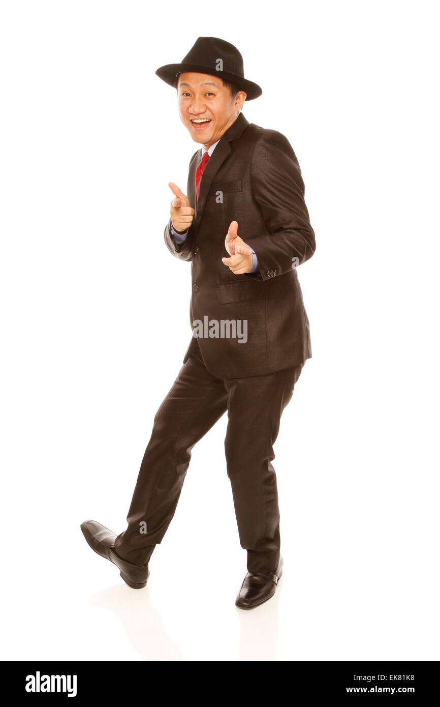 Jolly Businessman - Stock Image