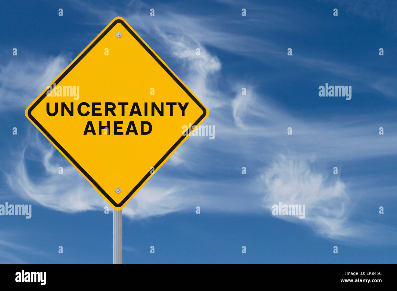 Uncertainty Ahead - Stock Image