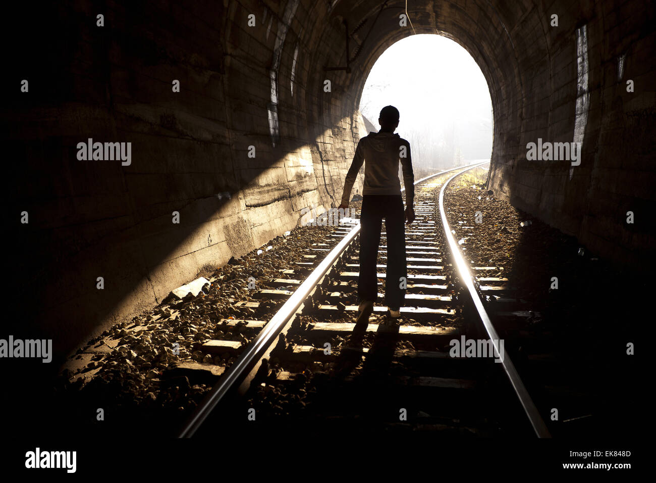 End of Tunnel - Stock Image