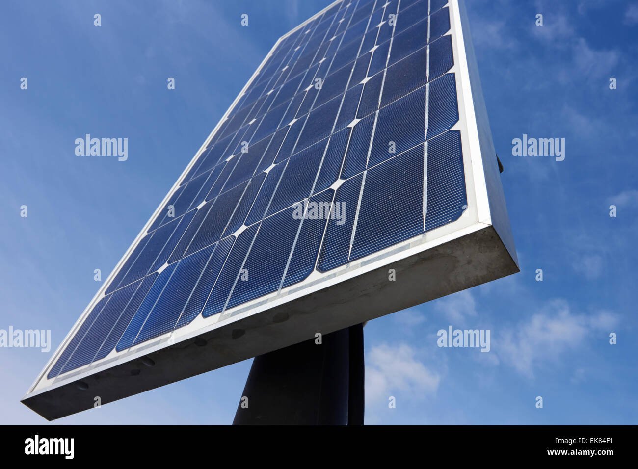 solar panels for electricity production, Finland - Stock Image