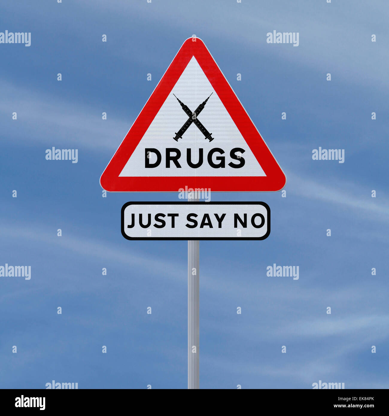 Say No To Drugs - Stock Image