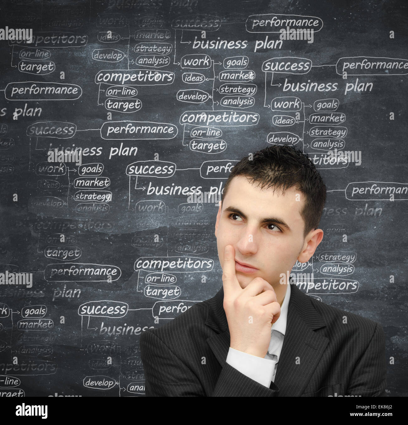 Developing a business plan - Stock Image