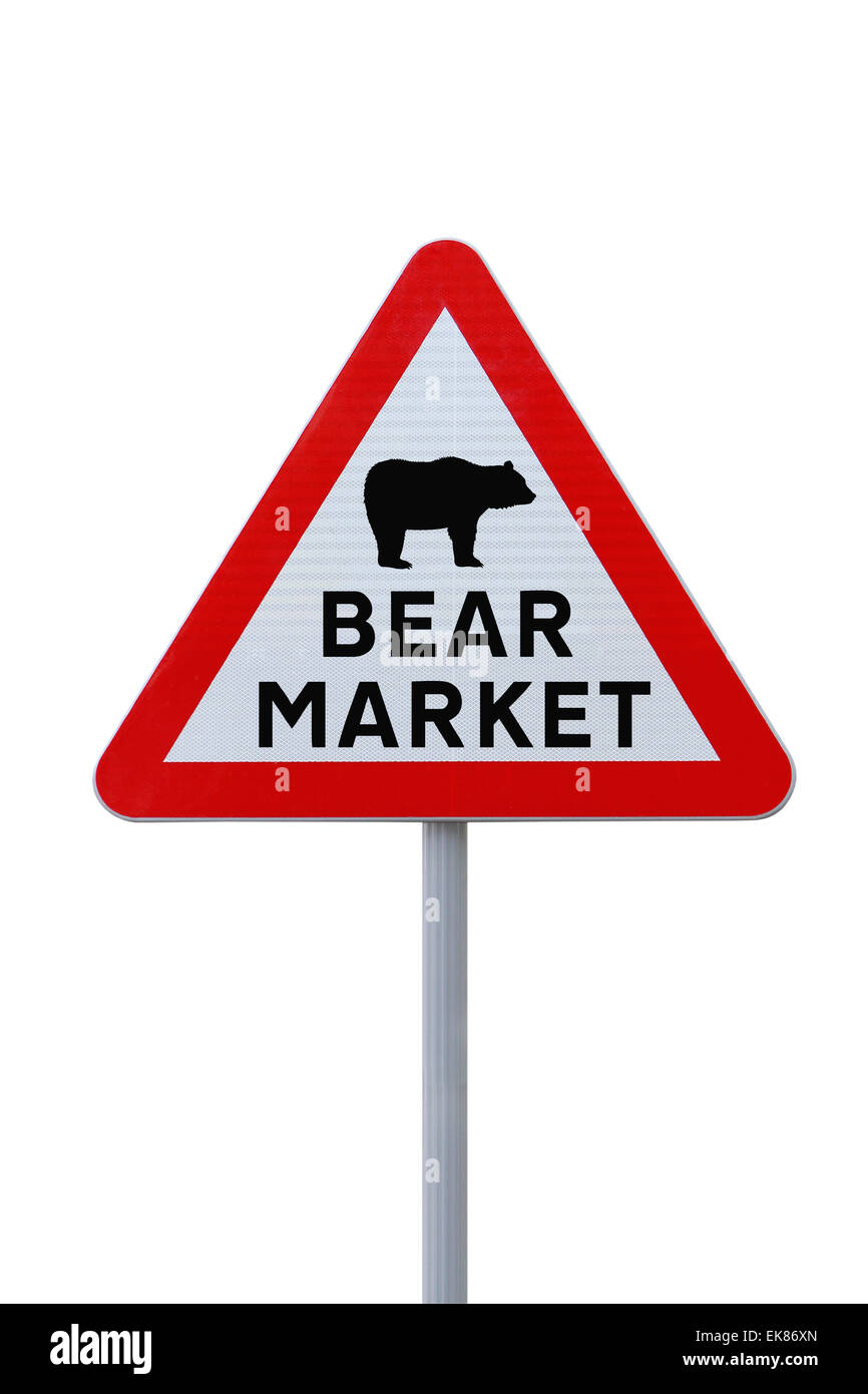 Bear Market Ahead - Stock Image