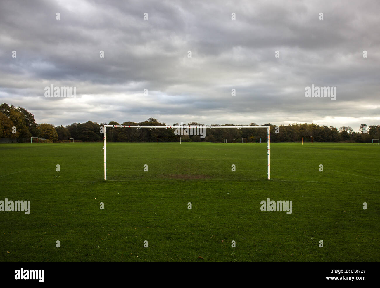 Grass Roots Football Stock Photo