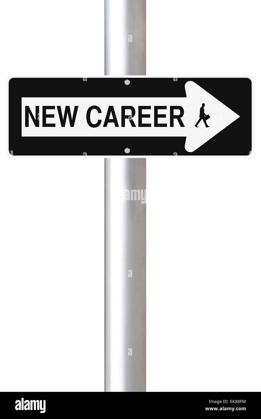 New Career This Way - Stock Image