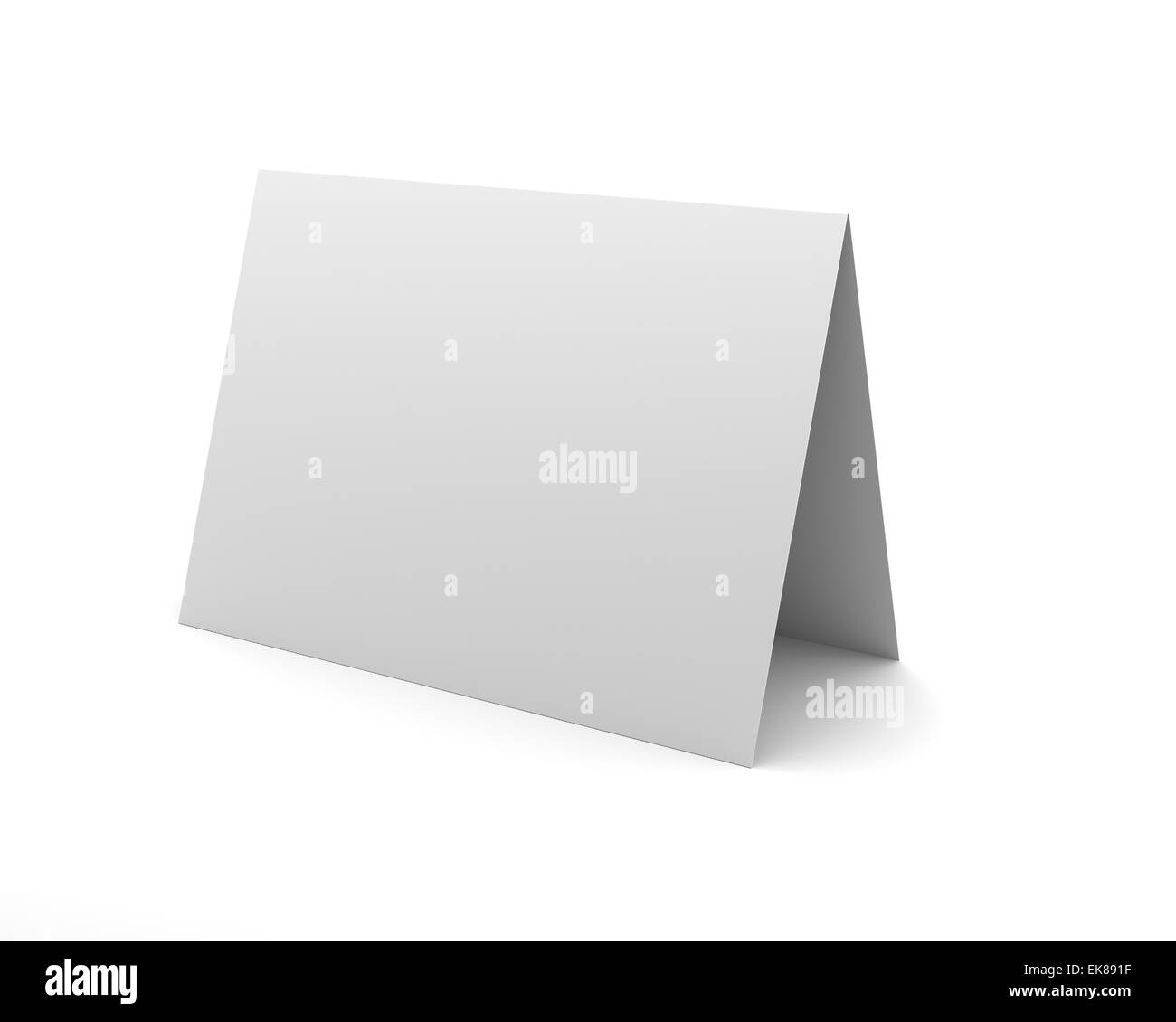 Blank White Desk Display on the White Background - Stock Image