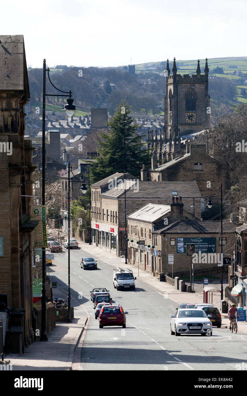 View of the town from Bolton Brow, Sowerby Bridge, West Yorkshire - Stock Image