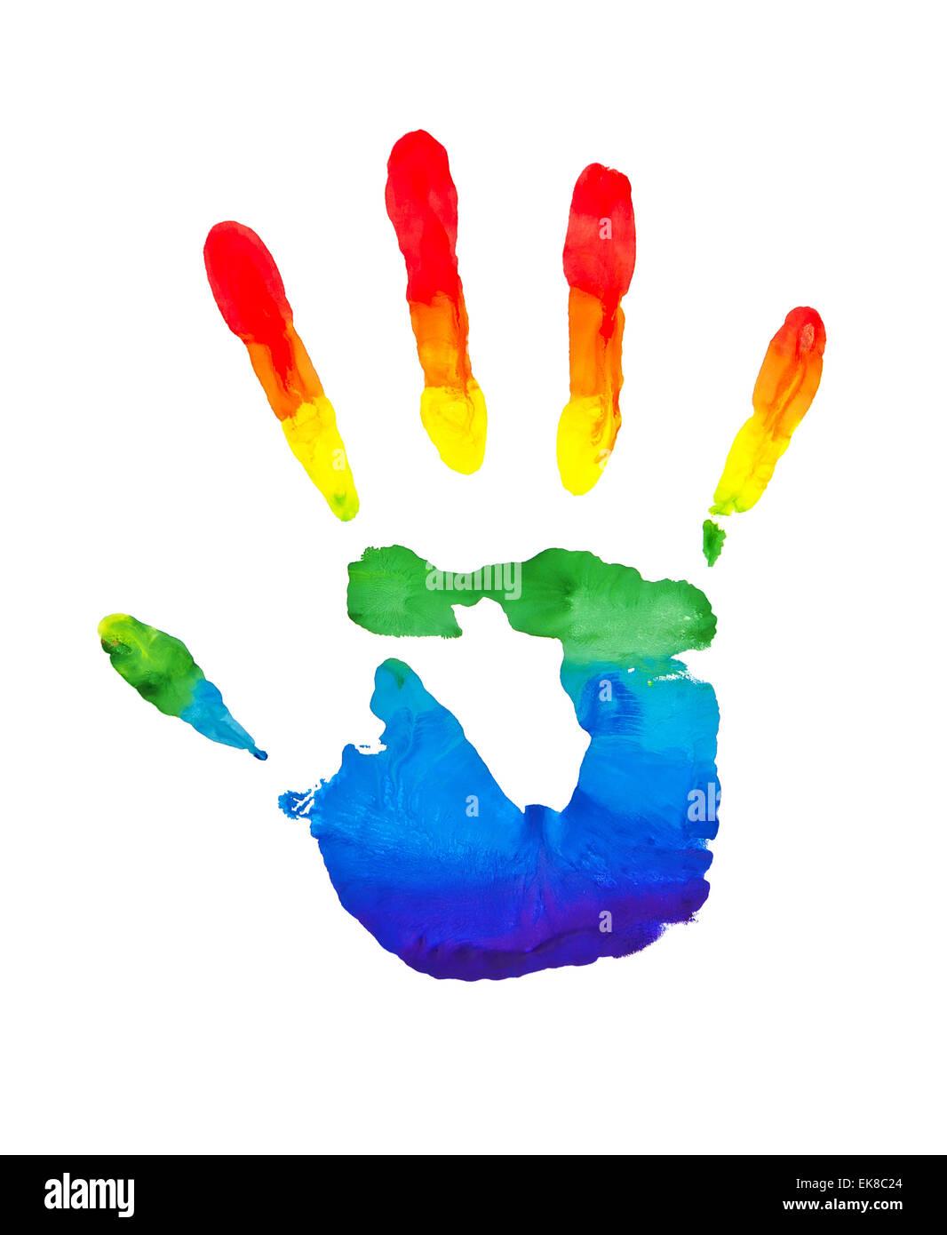 rainbow painted hands stock photo 80705020 alamy