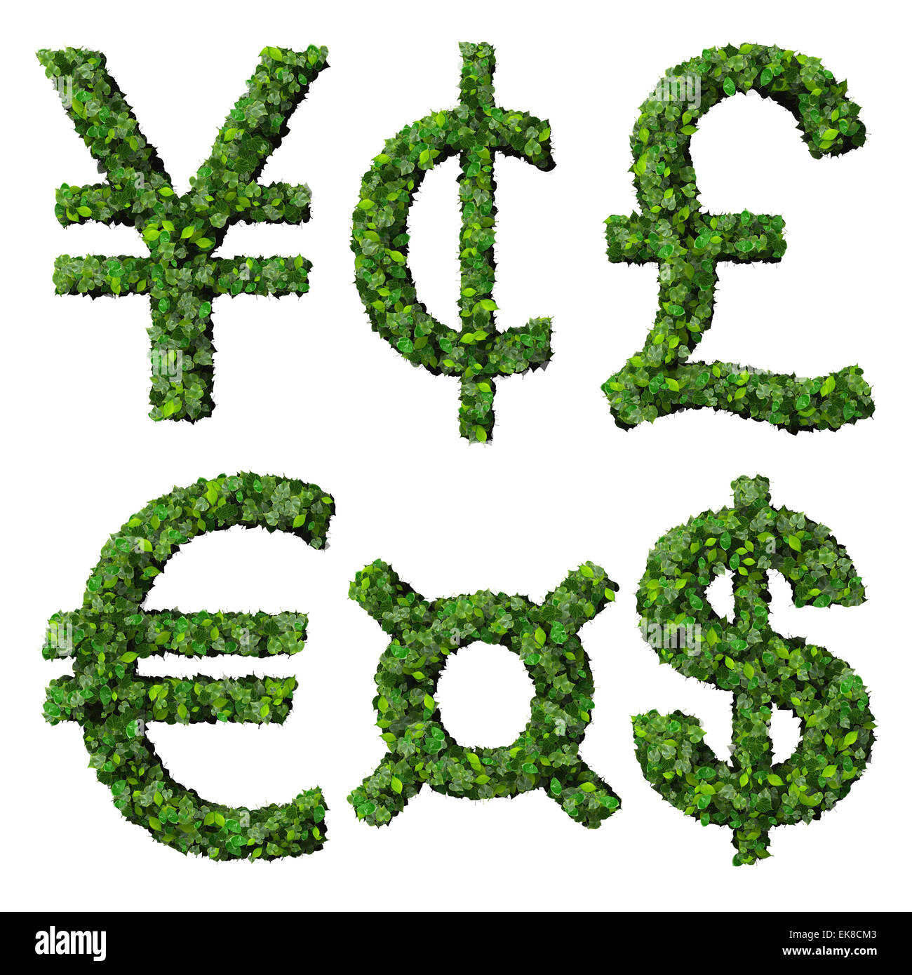 Money Symbols Yen Cent Pound Euro Dollar Currency Made From