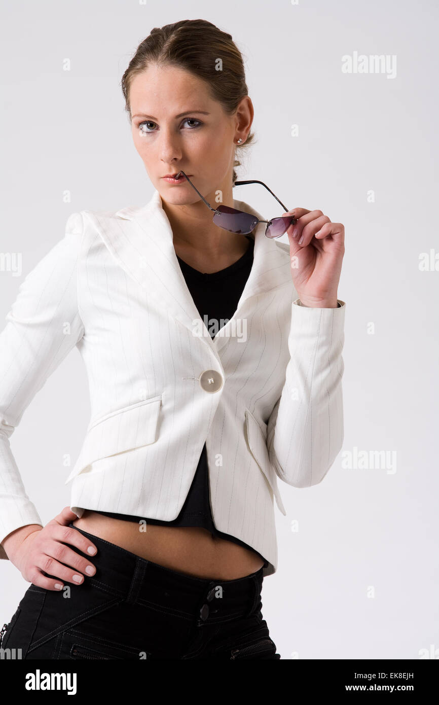 Young woman is intresting - Stock Image