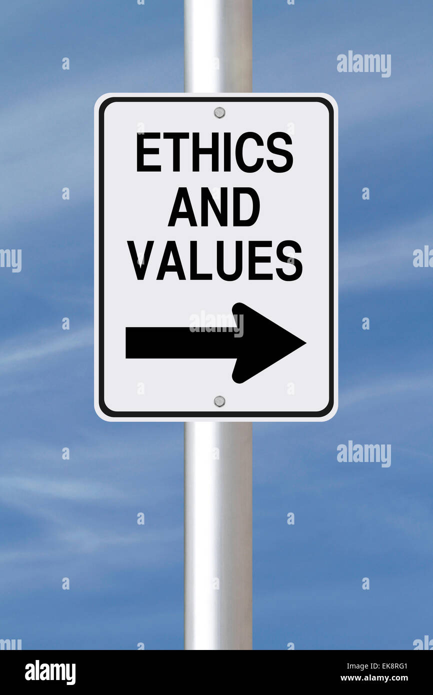 Ethics and Values - Stock Image