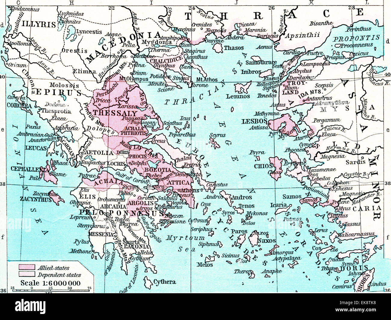Ancient Athens Map Stock Photos & Ancient Athens Map Stock ... on map of oceans in greece, map of persian war battles 499 479 bc, map of peloponnesian league,