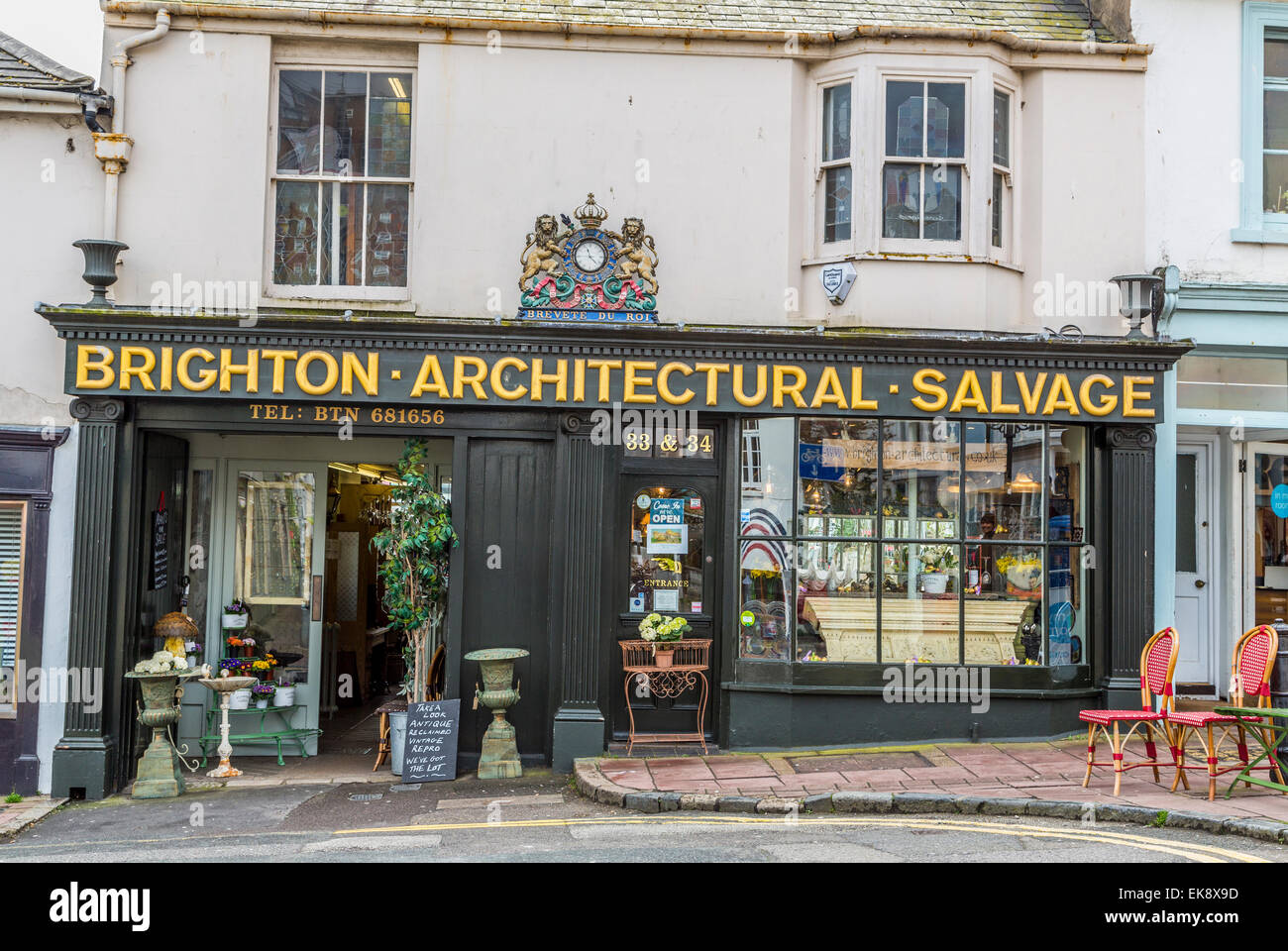 A Landscape image of Brighton Architectural Salvage - Stock Image