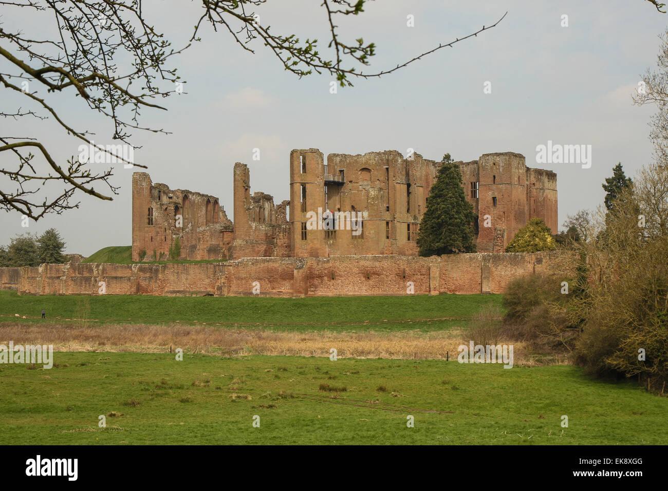 Kenilworth Castle, Warwickshire in England. - Stock Image