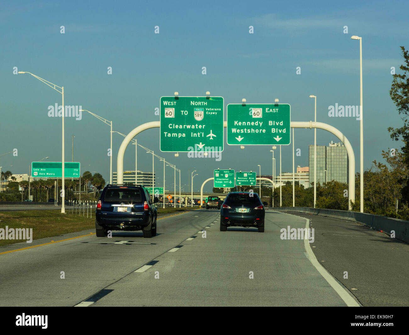 Car Dashboard Signs >> Highway Signs, Tampa, Florida Stock Photo: 80717987 - Alamy