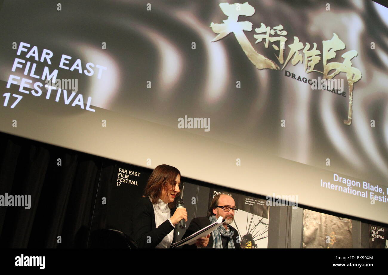 ITALY, Udine:17th Far East Film Festival  (23 April- 2 May) Sabrina Baracetti and Thomas Bertacche Art Director - Stock Image