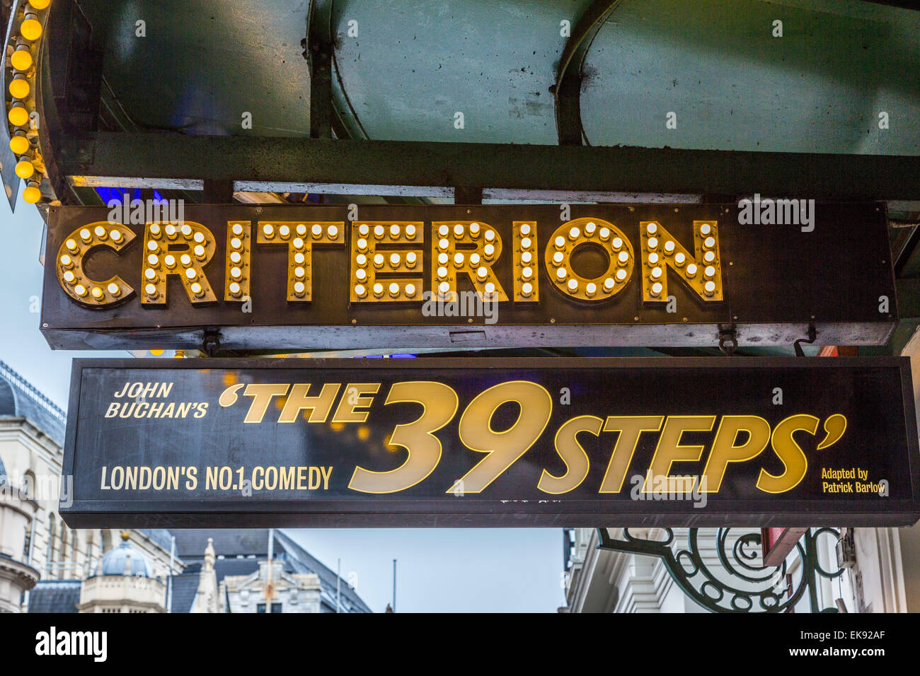 The Criterion Theatre The 39 Steps Piccadilly Circus Westminster London - Stock Image