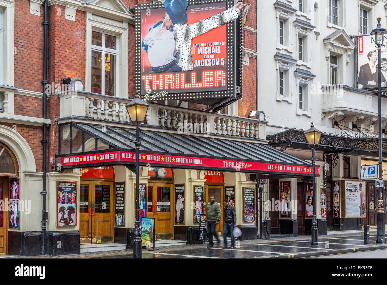 A Landscape image of Thriller Live the musical playing at the Lyric Theatre  Shaftesbury Avenue, London - Stock Image