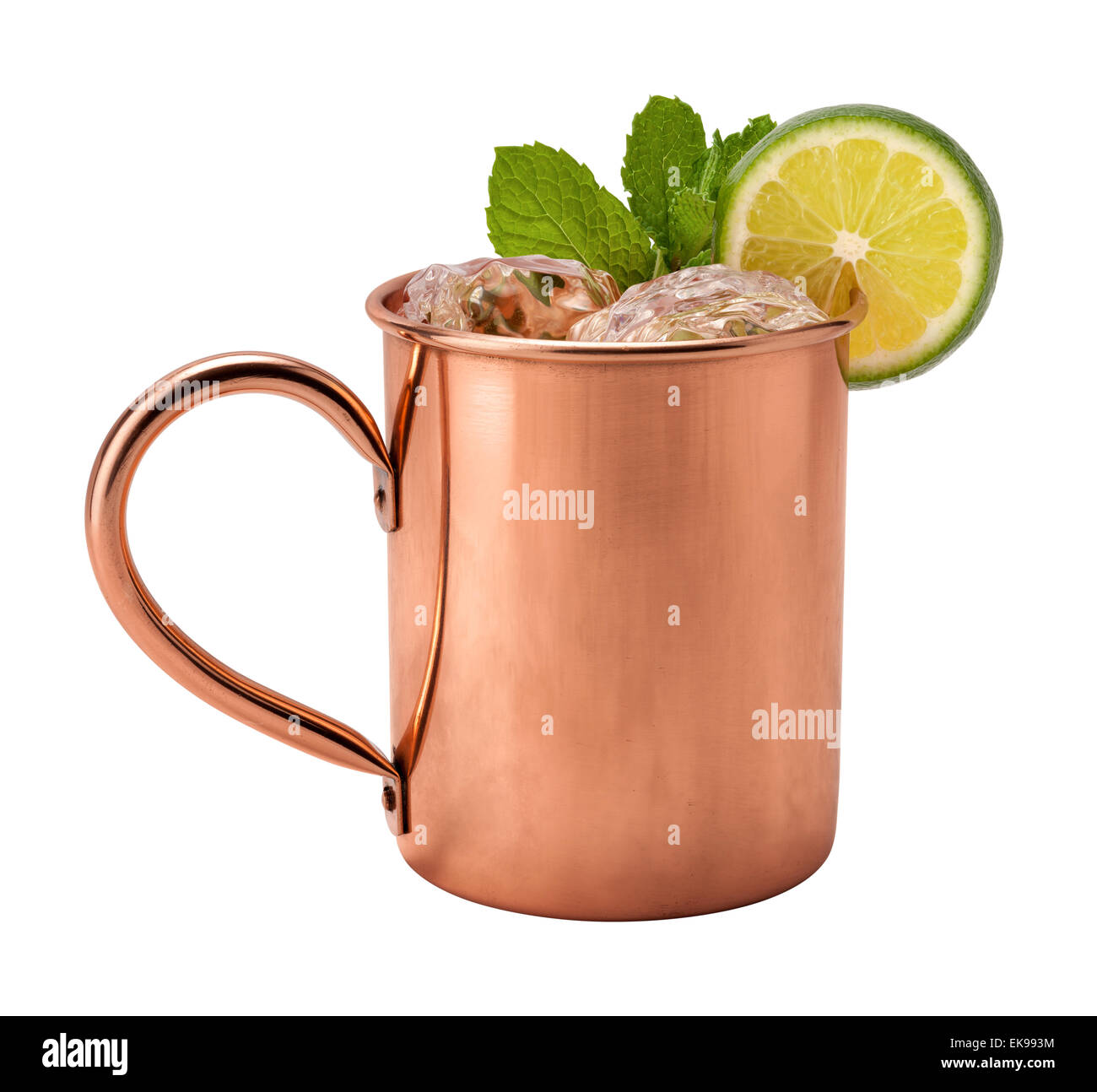 Moscow Mule in a Copper Mug - Stock Image