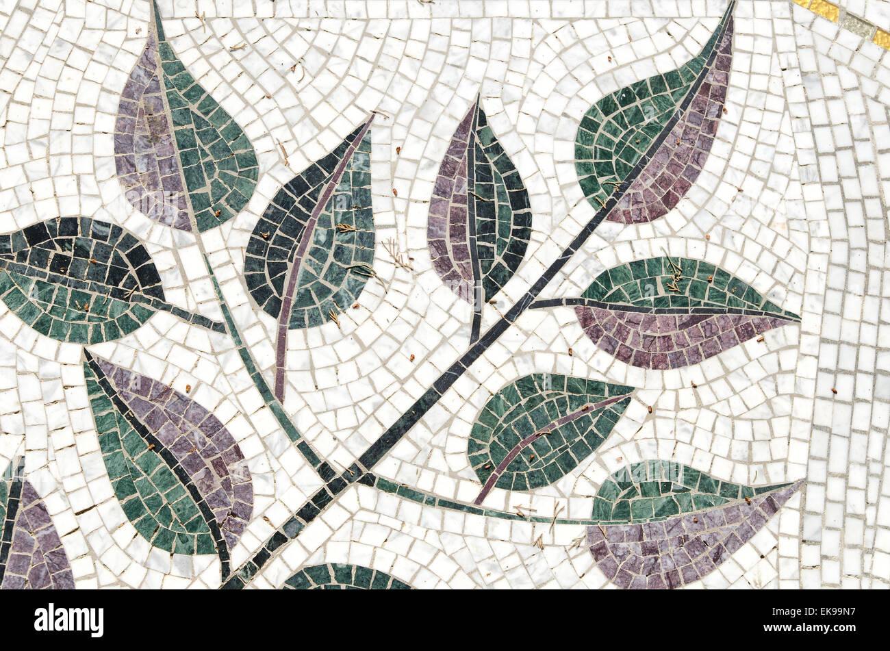 tree-like mosaic background - Stock Image