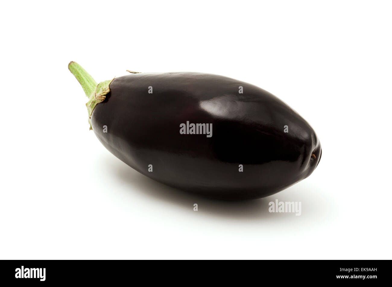 Italian eggplant on a white background Stock Photo