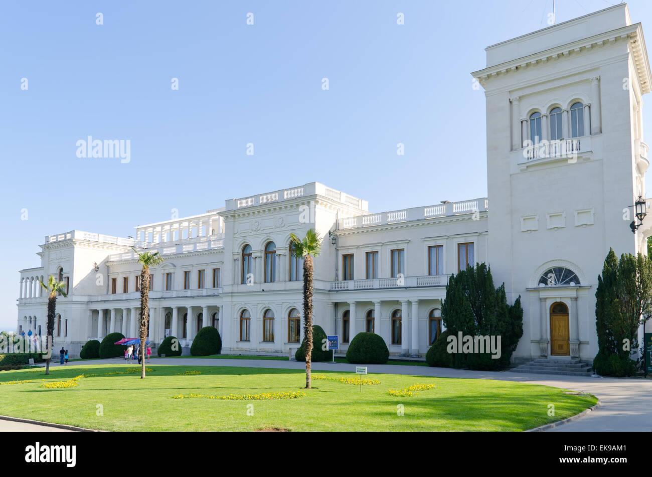 Livadia palace, Crimea, Ukraine - Stock Image