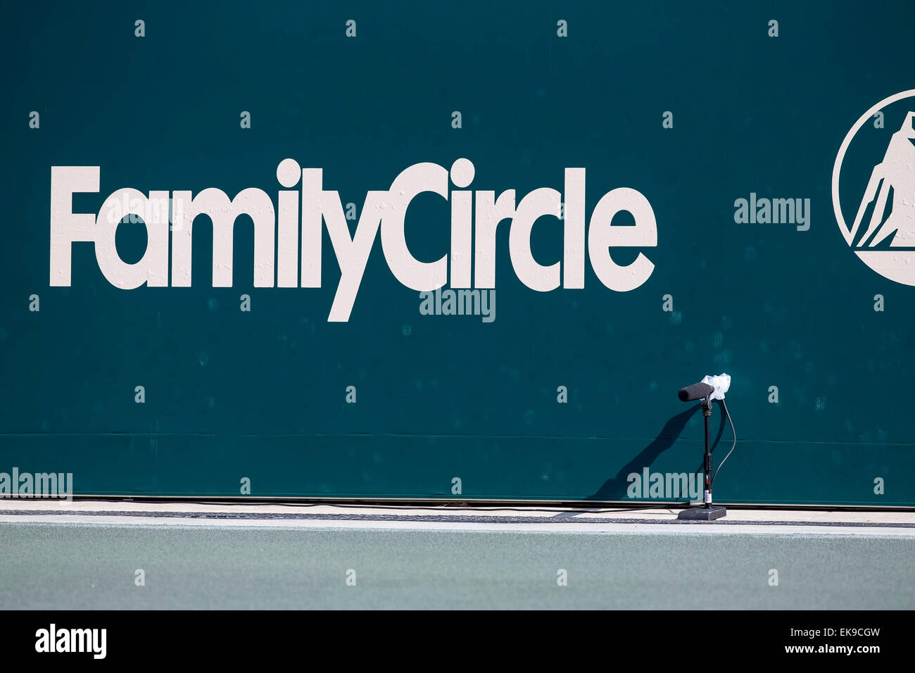 Charleston, SC, USA. 8th Apr, 2015. Charleston, SC - Apr 08, 2015: The Family Circle Tennis Center plays host to Stock Photo