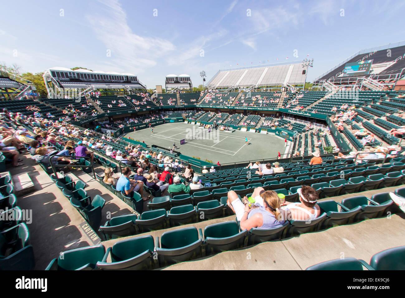 Charleston, SC, USA. 8th Apr, 2015. Charleston, SC - Apr 08, 2015: The Family Circle Tennis Center plays host to Stock Photo