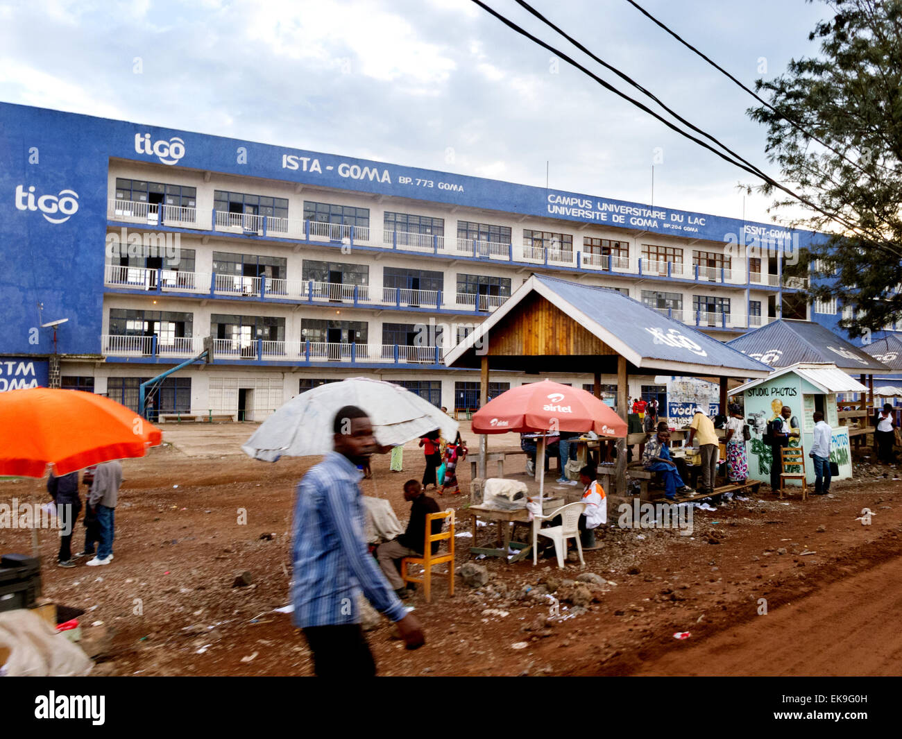 Students at the Lake Kivu campus of Goma University, Democratic republic of Congo ( DRC ) Africa - Stock Image