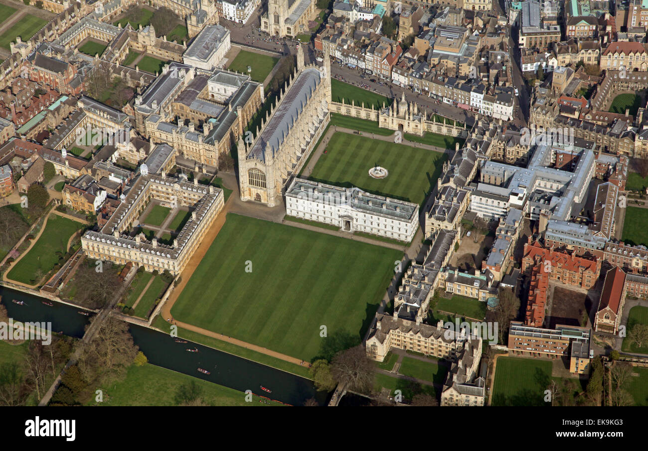aerial view of the English city of Cambridge, UK - Stock Image