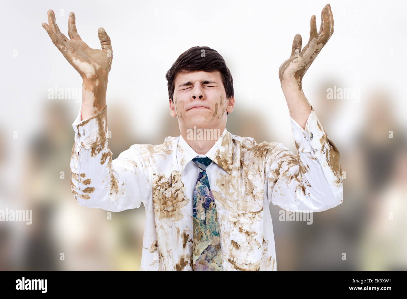 Dirty hands - Stock Image