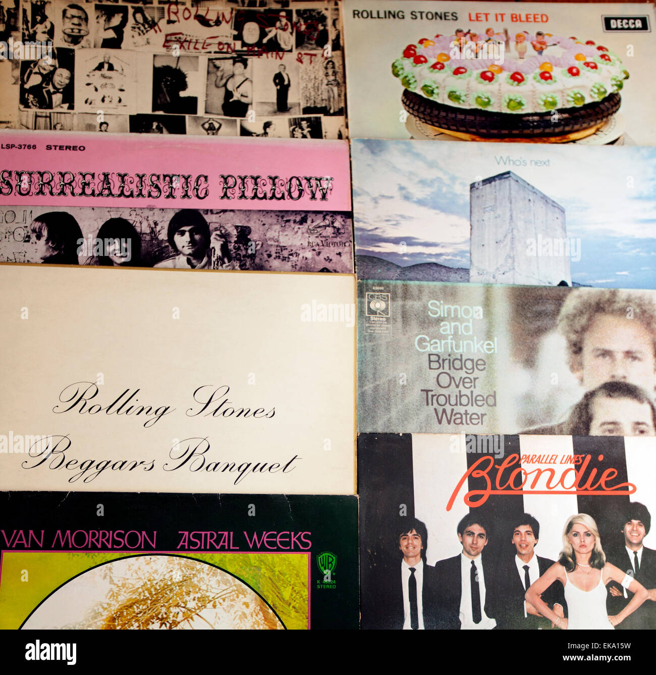 classic rock and pop music lps of the 60s and 70s london stock
