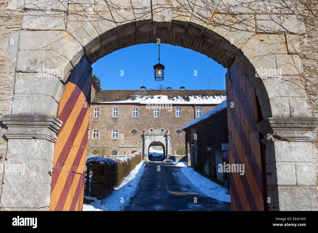Burg Schnellenberg Castle, Hanseatic City of Attendorn, Sauerland region, North Rhine-Westphalia, Germany, Europe Stock Photo