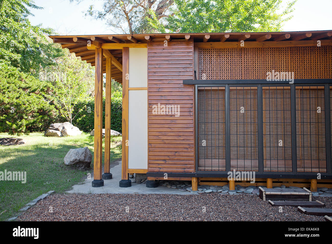 Small Wooden House In Japanese Style Stock Photo Alamy