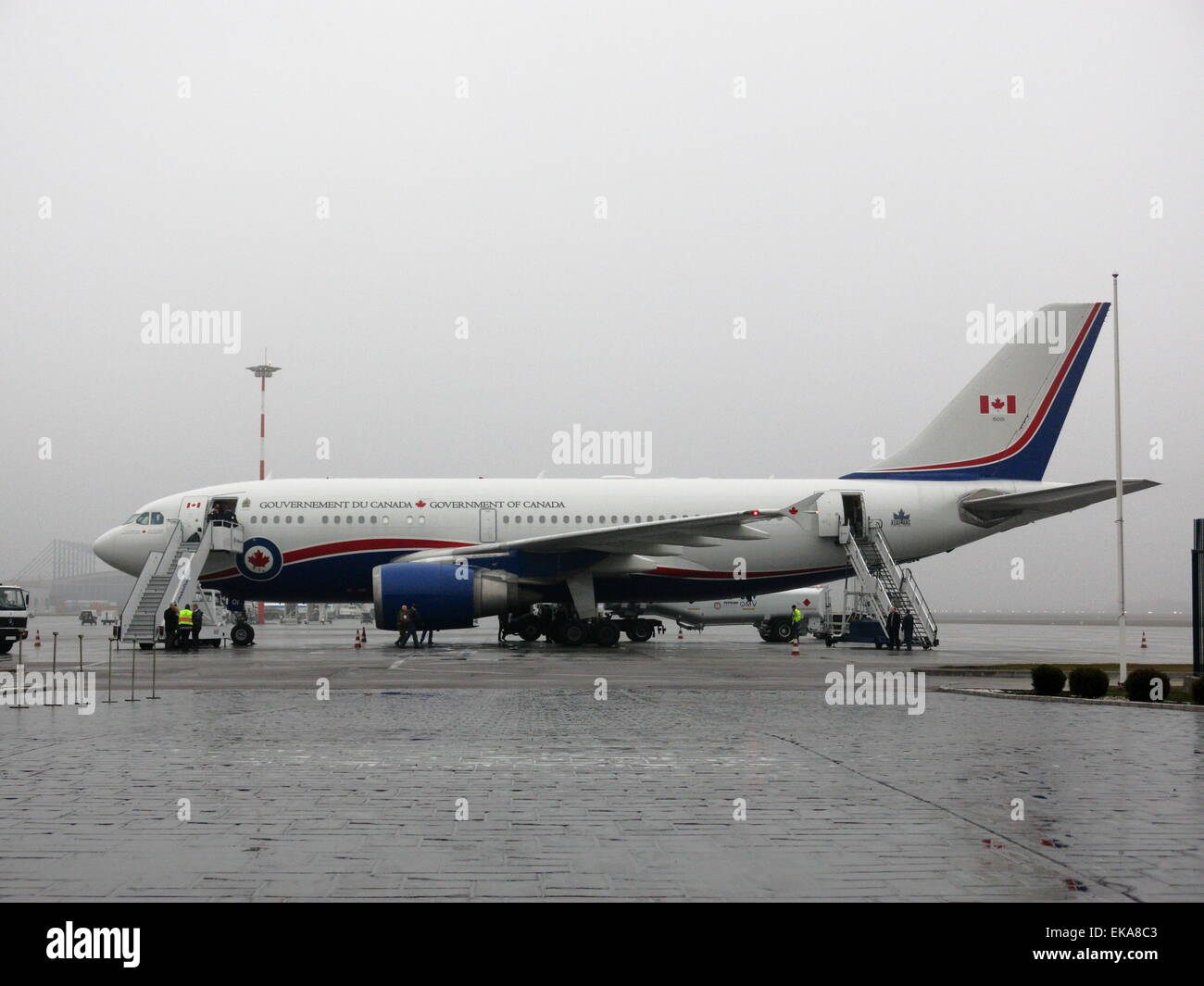 Airbus A310 CC-150 Polaris, RCAF 01, the Government of Canada VIP Airplane Stock Photo
