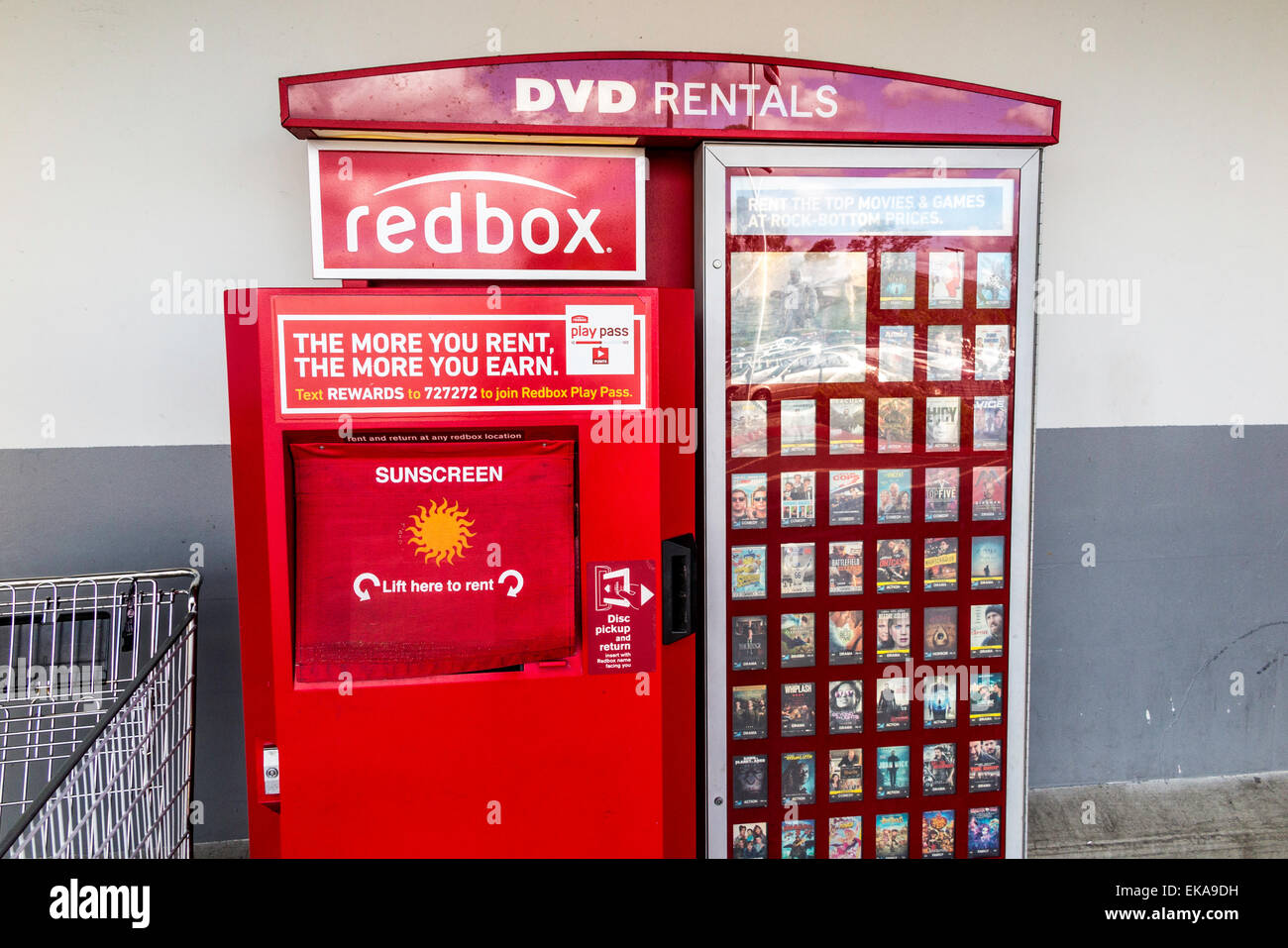 A Redbox Movie rental vending Machine Stock Photo ...