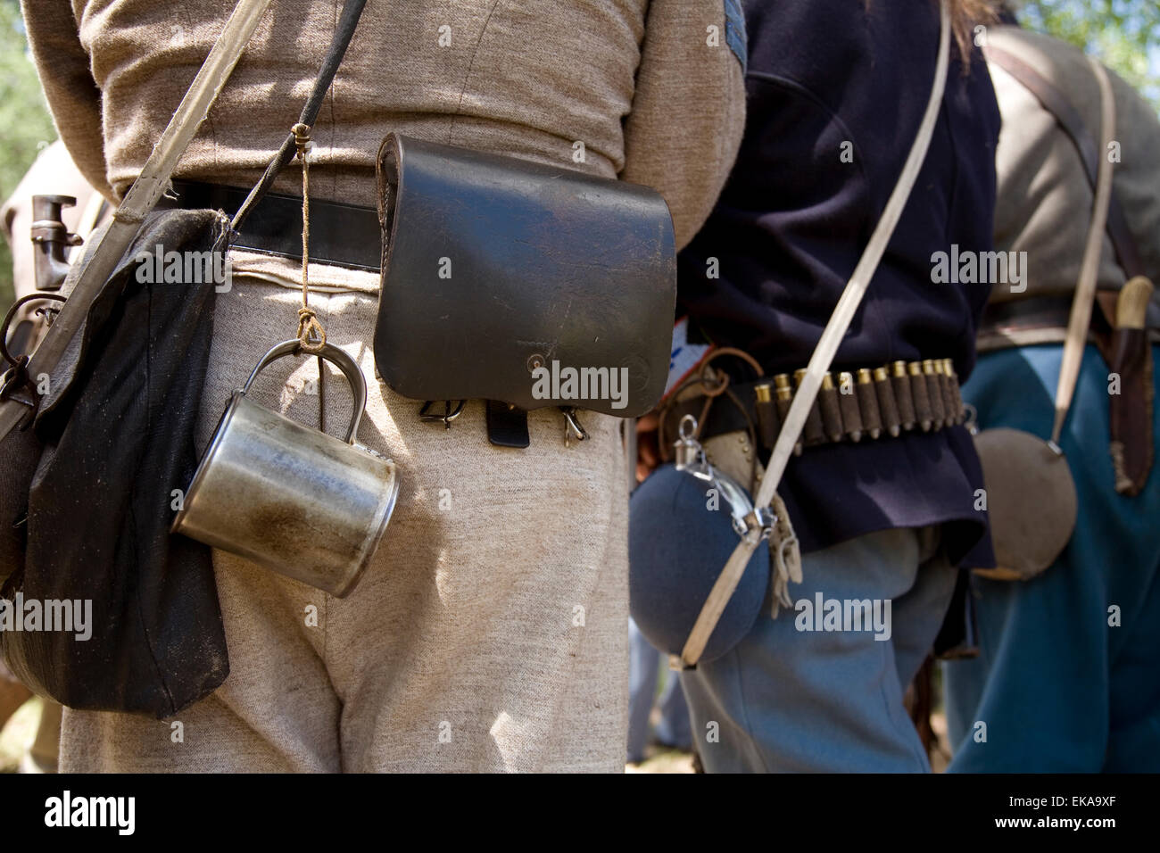 Detail of costumed interpreters at the annual Fort Stanton Live! celebration, New Mexico, USA Stock Photo