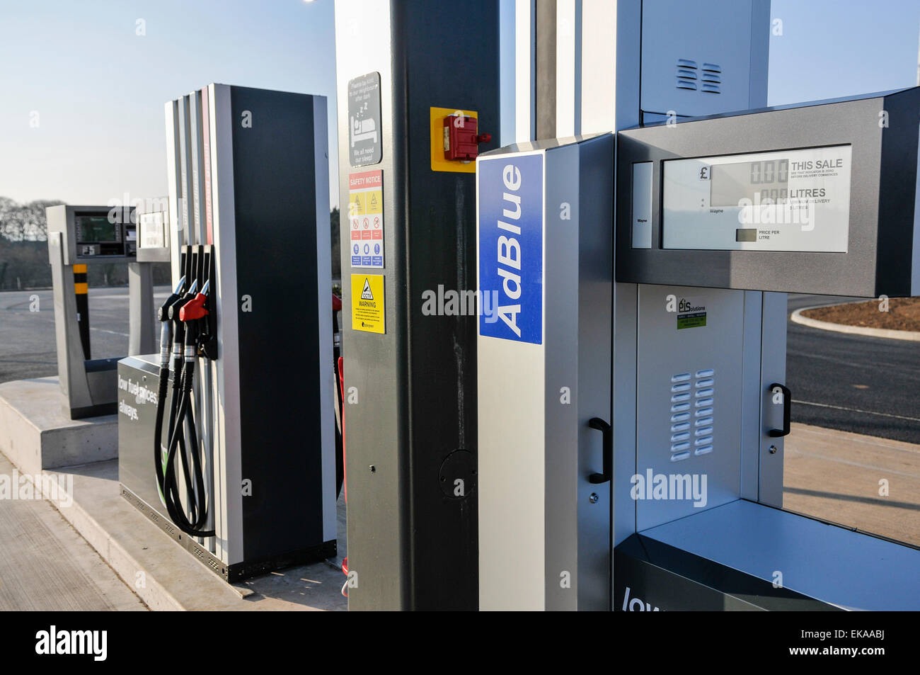 diesel pump at an applegreen motorway service station for trucks and stock photo 80747622 alamy. Black Bedroom Furniture Sets. Home Design Ideas