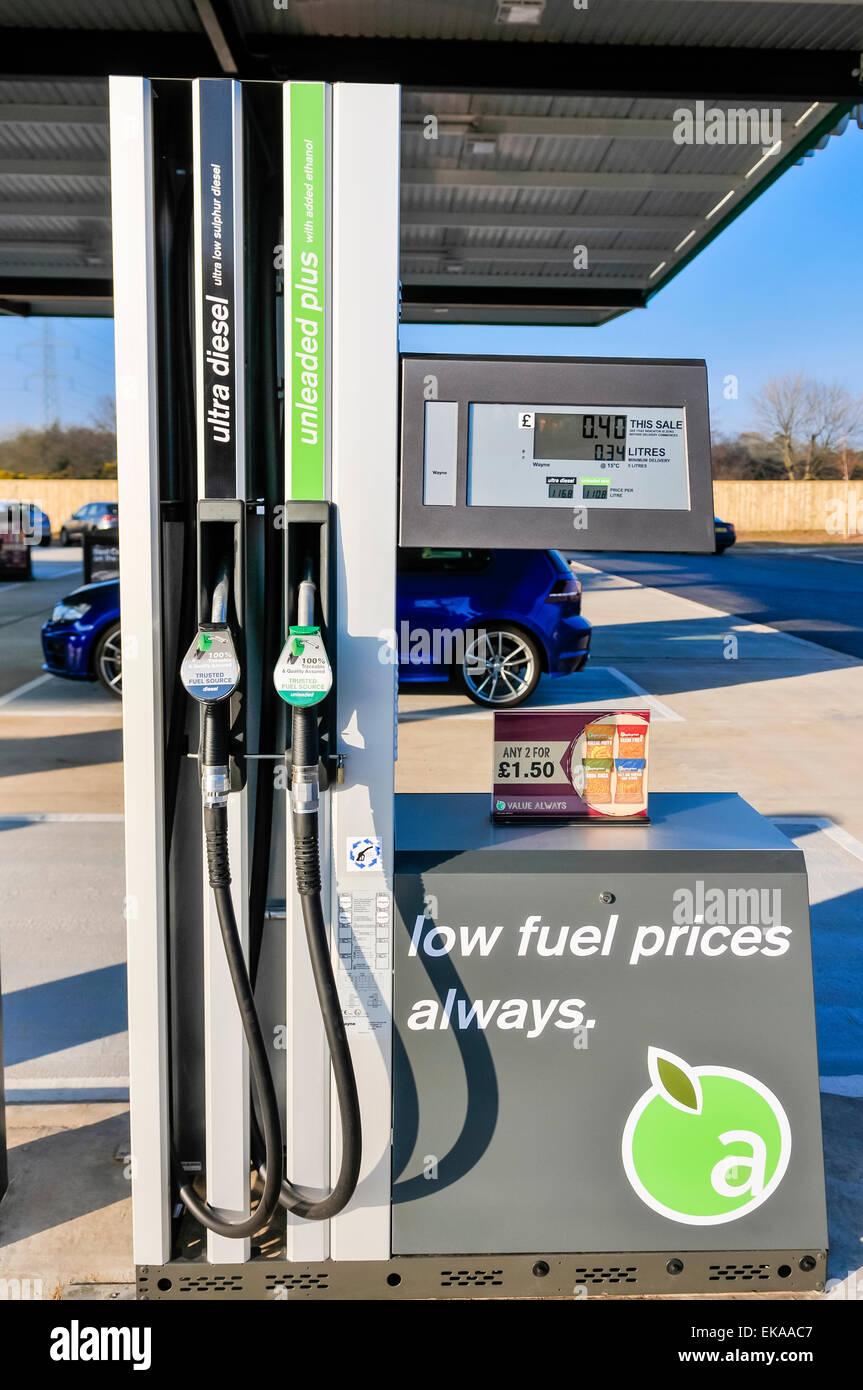 Petrol and diesel pump at an Applegreen service station