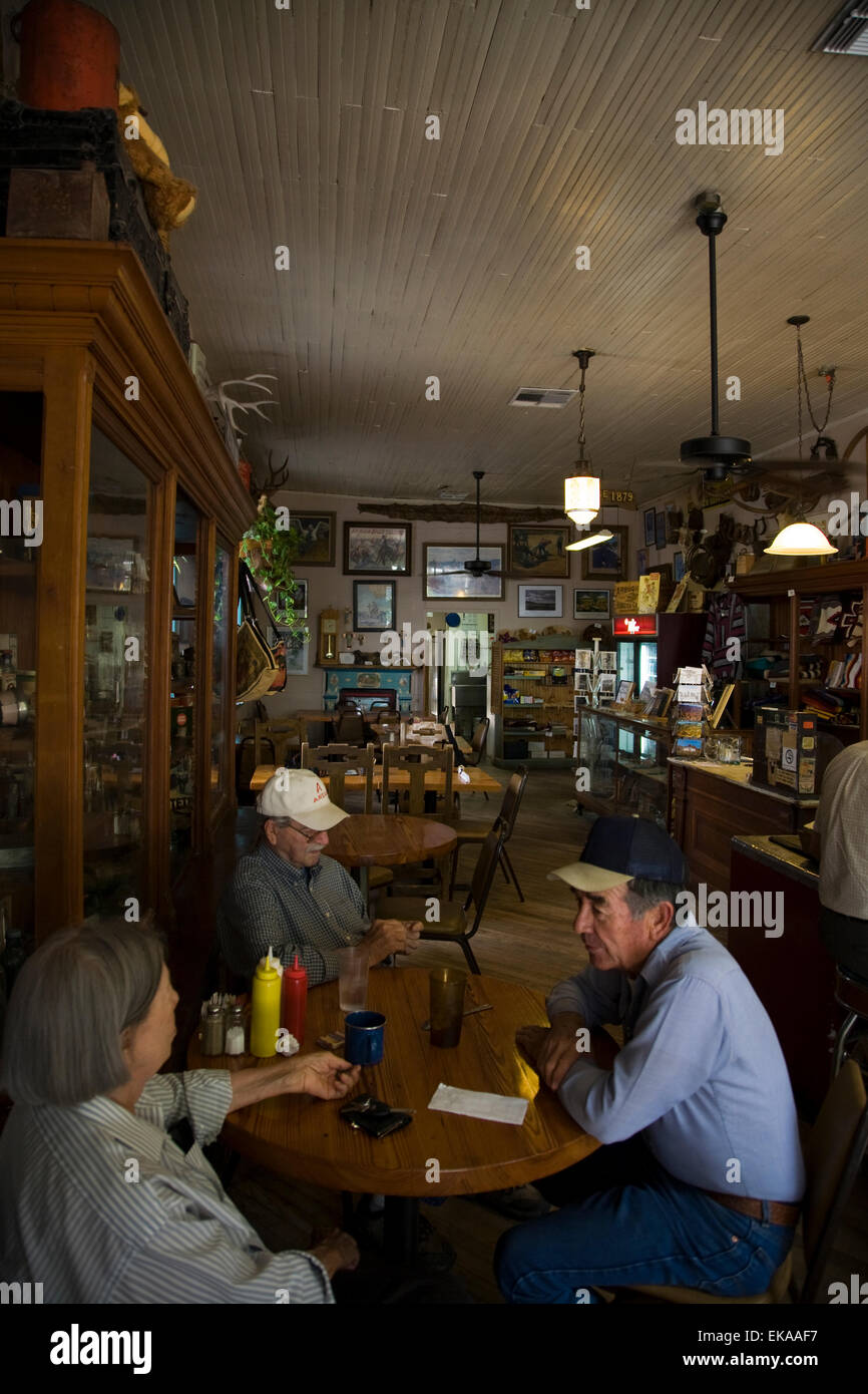 Diners at Hillsboro General Store & Country Cafe, Hillsboro, NM, USA - Stock Image