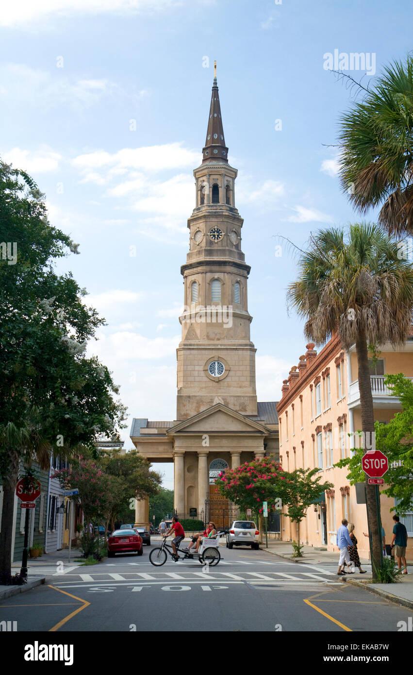 St. Philip's Episcopal Church in Charleston, South Carolina, USA. - Stock Image