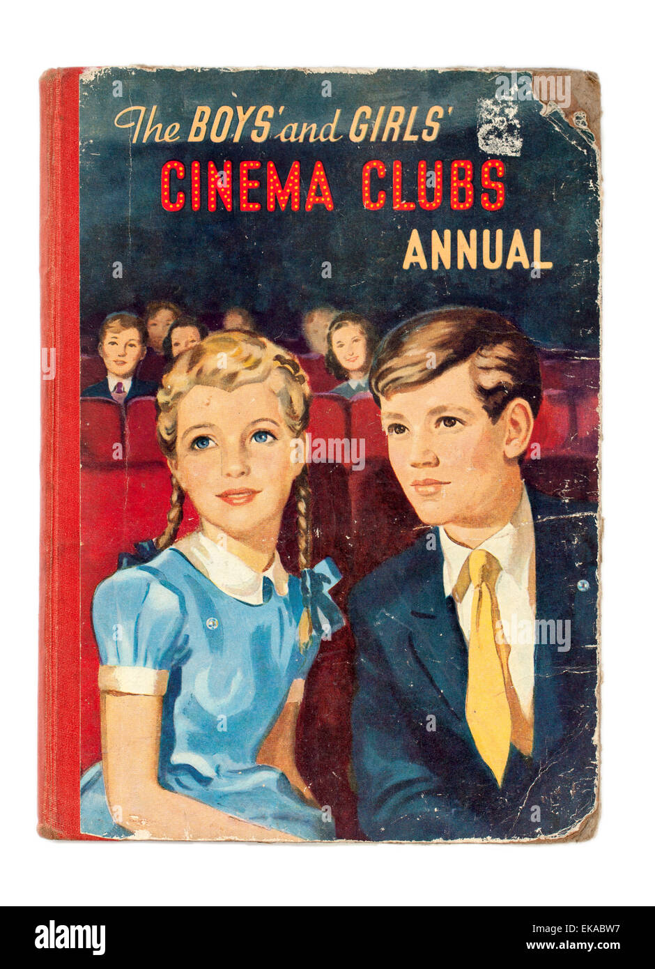 Vintage Copy of the Boys and Girls Cinema Clubs Annual - Stock Image