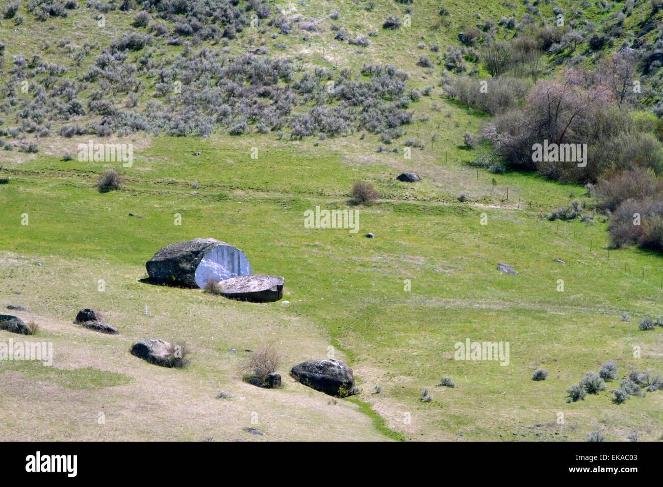 Breadloaf rock near Horseshoe Bend, Idaho, USA. - Stock Image